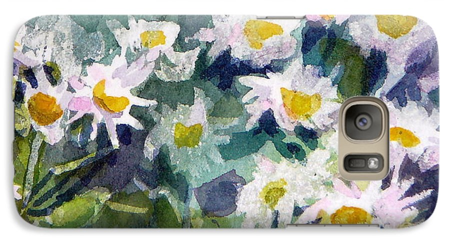 Flowers Galaxy S7 Case featuring the painting Little Asters by Jan Bennicoff
