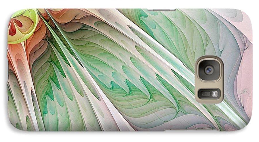 Digital Art Galaxy S7 Case featuring the digital art Petals by Amanda Moore
