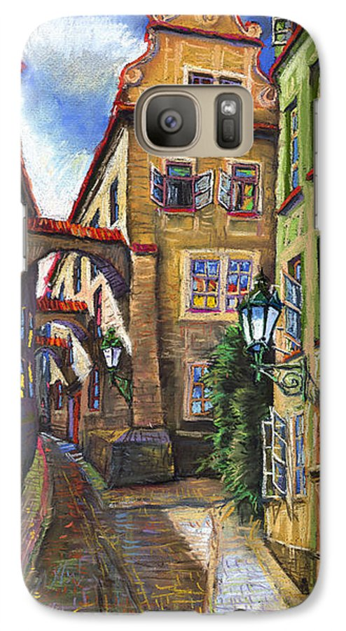 Prague Galaxy S7 Case featuring the painting Prague Old Street by Yuriy Shevchuk