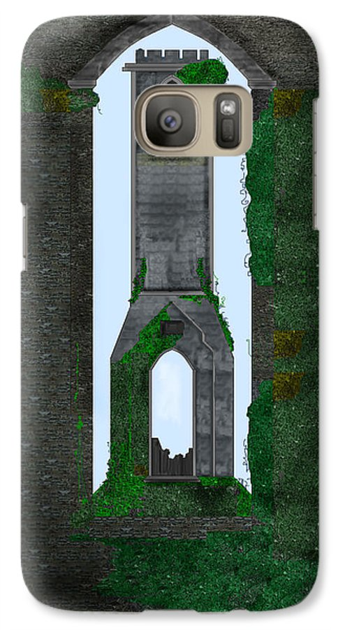 Ireland Galaxy S7 Case featuring the painting Quint Arches In Ireland by Anne Norskog