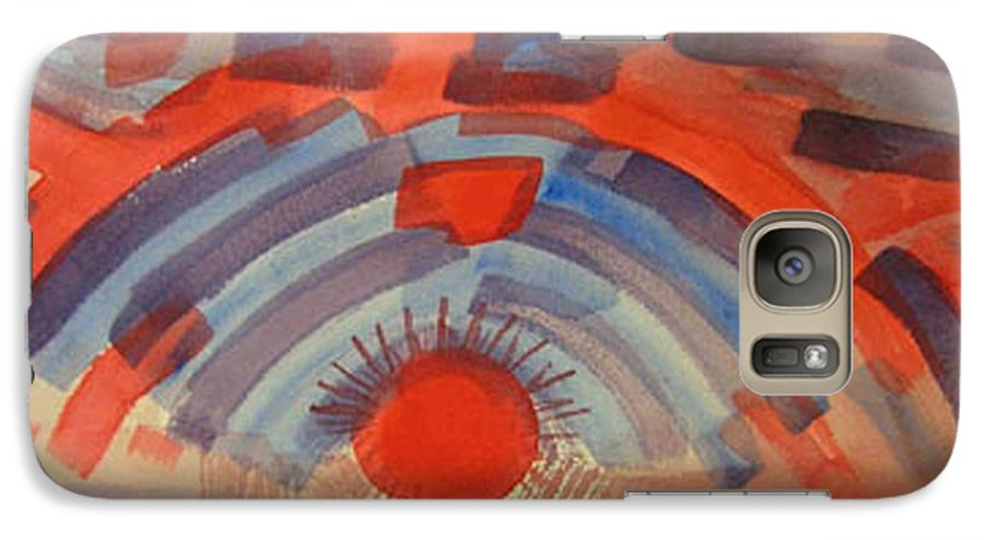 Landscape Galaxy S7 Case featuring the painting Sunset On The Horizon by Natalee Parochka