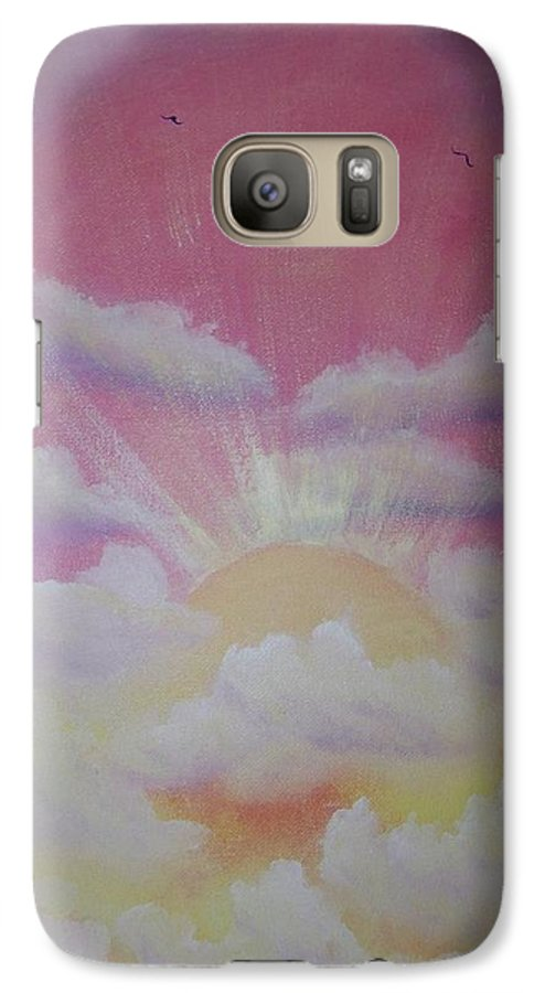 Bird Galaxy S7 Case featuring the painting The Ascension by Laurie Kidd