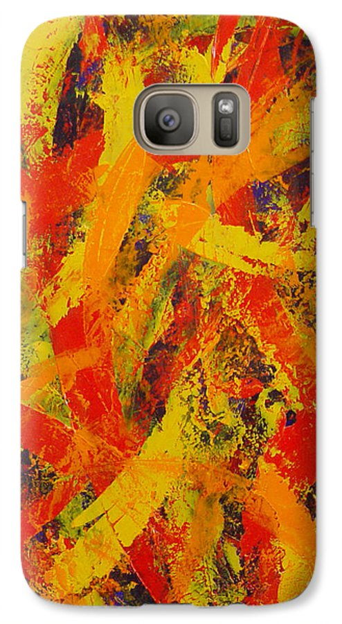Abstract Galaxy S7 Case featuring the painting Untitled by Dean Triolo