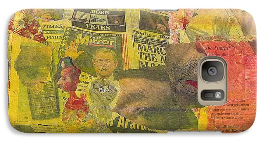 November Galaxy S7 Case featuring the mixed media 2004 November by Michael Puya