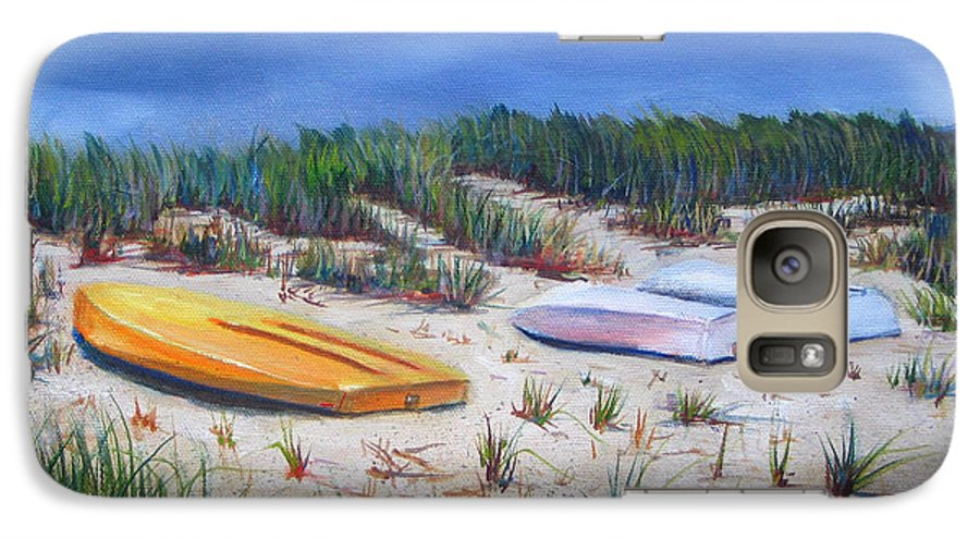 Cape Cod Galaxy S7 Case featuring the painting 3 Boats by Paul Walsh