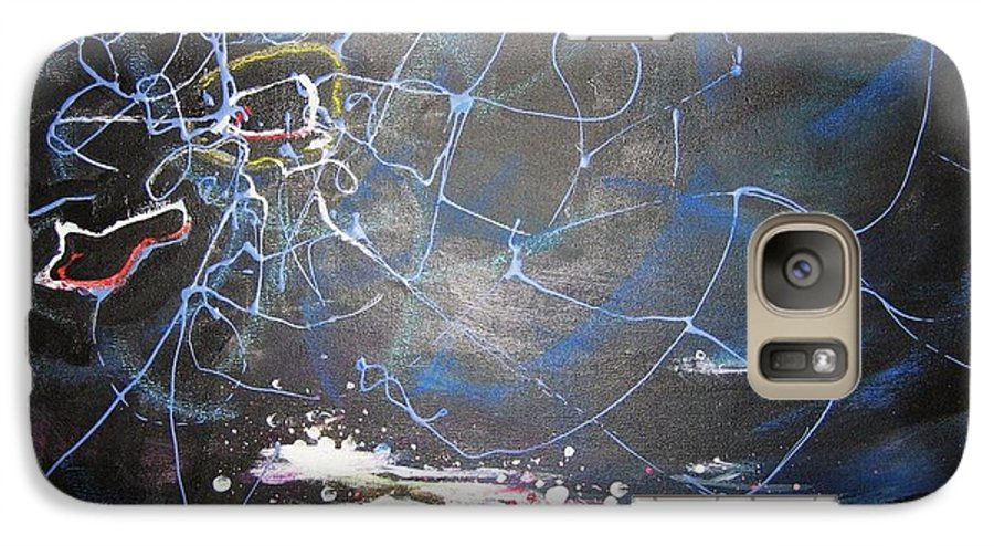 Abstract Paintings Galaxy S7 Case featuring the painting Buckwheat Field by Seon-Jeong Kim