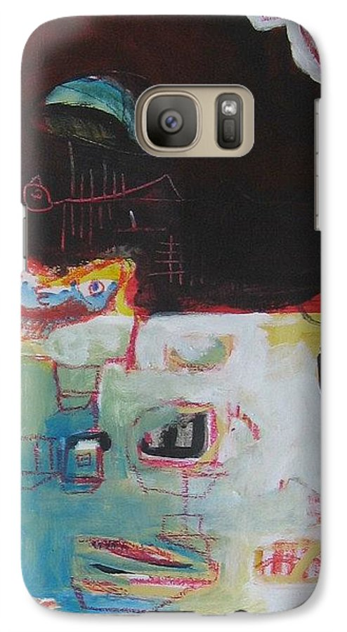 Abstract Paintings Galaxy S7 Case featuring the painting Little Bay by Seon-Jeong Kim