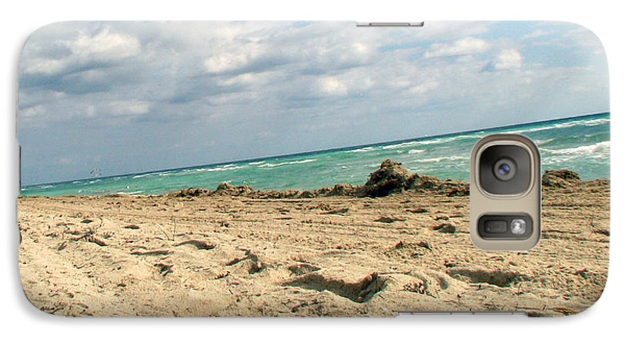 Miami Galaxy S7 Case featuring the photograph Miami Beach by Amanda Barcon