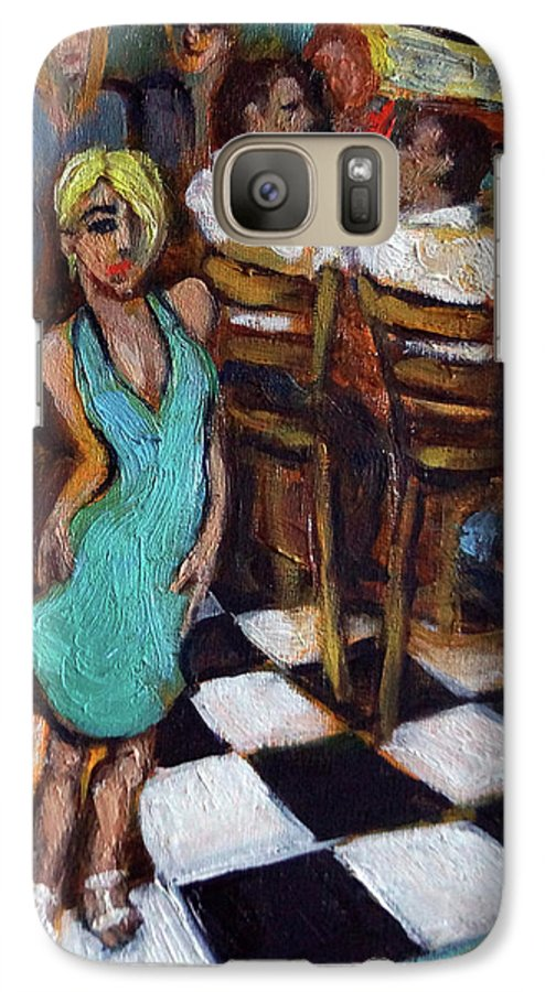 Restaurant Galaxy S7 Case featuring the painting 32 East by Valerie Vescovi