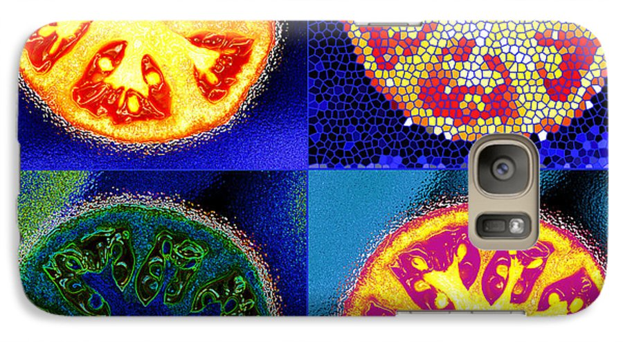 Tomatoes Galaxy S7 Case featuring the photograph 4 Abstract Tomatoes by Nancy Mueller