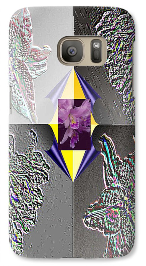 Florals Galaxy S7 Case featuring the digital art 4 Points Of Interest by Brenda L Spencer