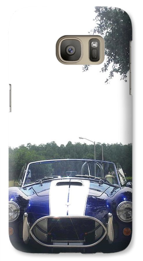 Speed Galaxy S7 Case featuring the photograph 427 Cobra Side Oiler by Margaret Fortunato