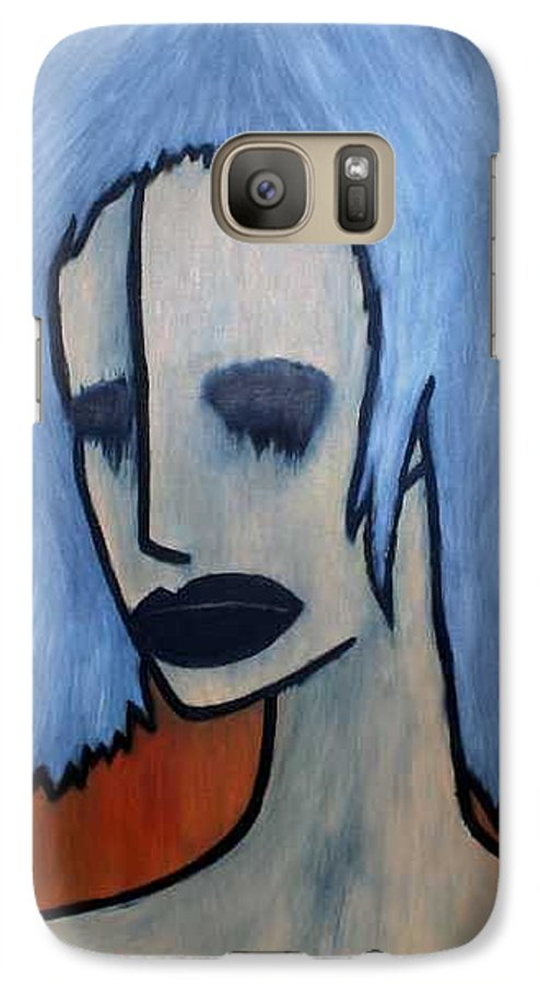 Potrait Galaxy S7 Case featuring the painting Halloween by Thomas Valentine