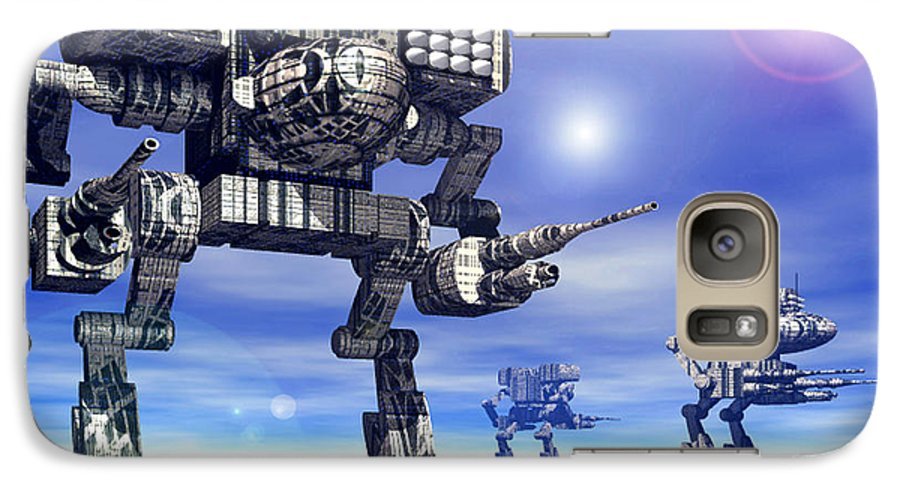 Science Fiction Galaxy S7 Case featuring the digital art 501st Mech Trinary by Curtiss Shaffer