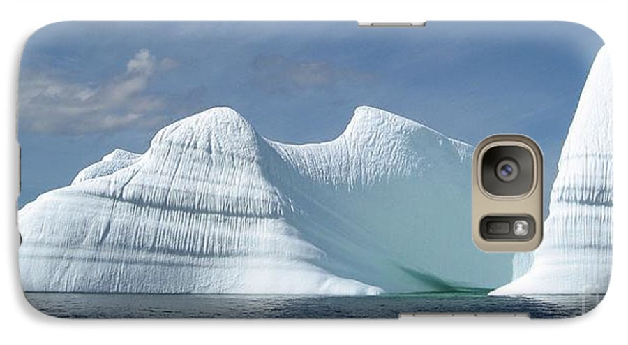 Iceberg Photograph Ice Water Ocean Sea Atlantic Summer Newfoundland Galaxy S7 Case featuring the photograph Iceberg by Seon-Jeong Kim