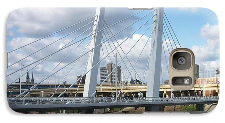 Bridge Galaxy S7 Case featuring the photograph 6th Street Bridge by Anita Burgermeister