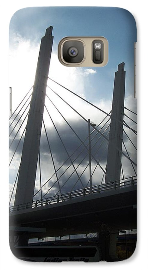 Bridge Galaxy S7 Case featuring the photograph 6th Street Bridge Backlit by Anita Burgermeister