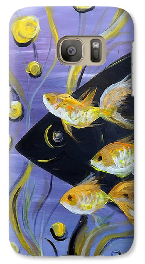 Fish Galaxy S7 Case featuring the painting 8 Gold Fish by Gina De Gorna