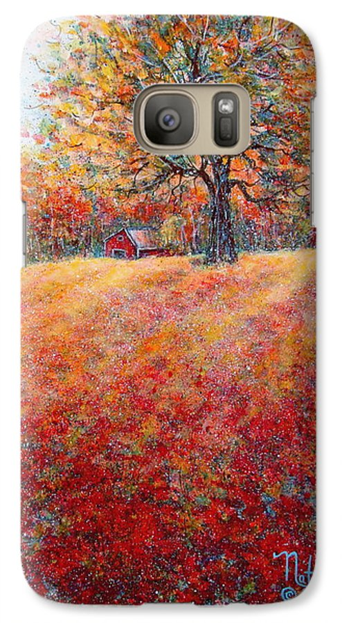 Autumn Landscape Galaxy S7 Case featuring the painting A Beautiful Autumn Day by Natalie Holland
