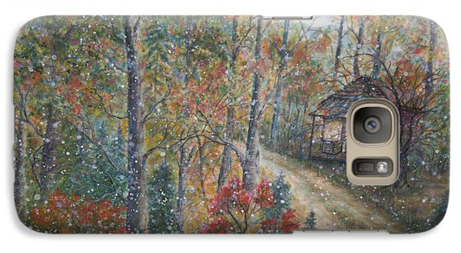 Country Road; Old House; Trees Galaxy S7 Case featuring the painting A Bend In The Road by Ben Kiger