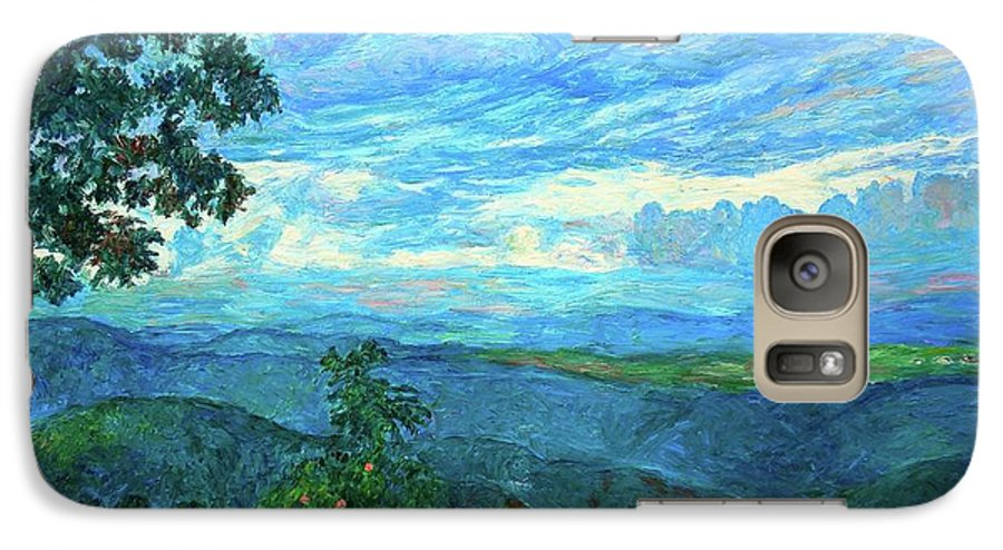 Mountains Galaxy S7 Case featuring the painting A Break In The Clouds by Kendall Kessler