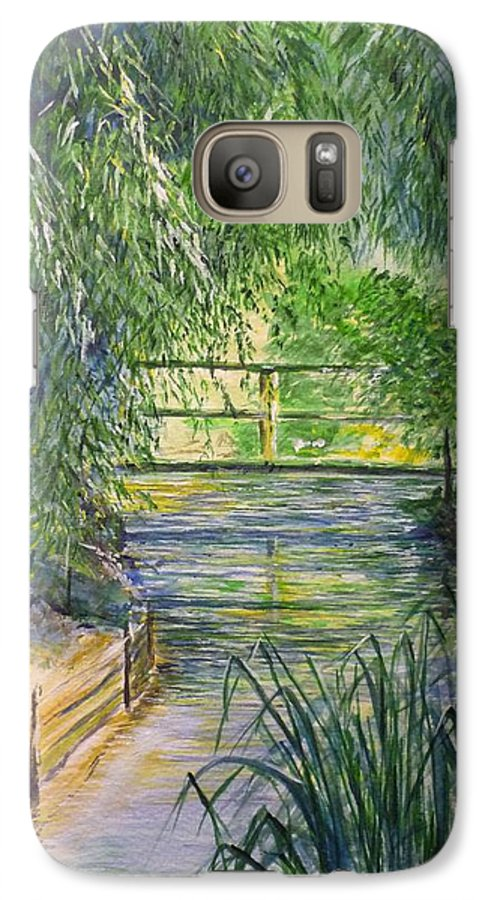 Giverny Galaxy S7 Case featuring the painting A Day At Giverny by Lizzy Forrester