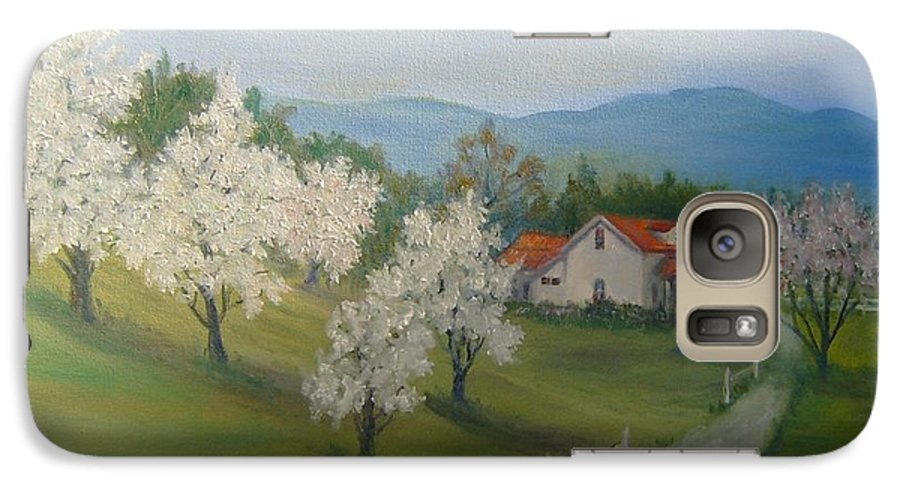 Landscape; Spring; Mountains; Country Road; House Galaxy S7 Case featuring the painting A Day In The Country by Ben Kiger