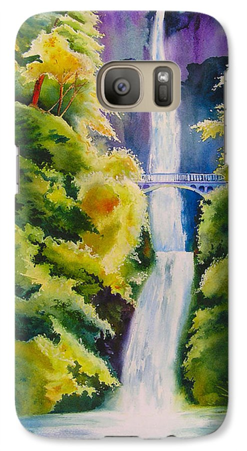 Waterfall Galaxy S7 Case featuring the painting A Favorite Place by Karen Stark