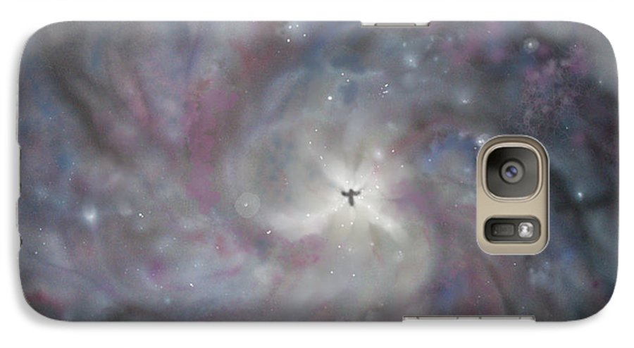 Space Galaxy S7 Case featuring the painting A Galaxy Centre by Mike Moss