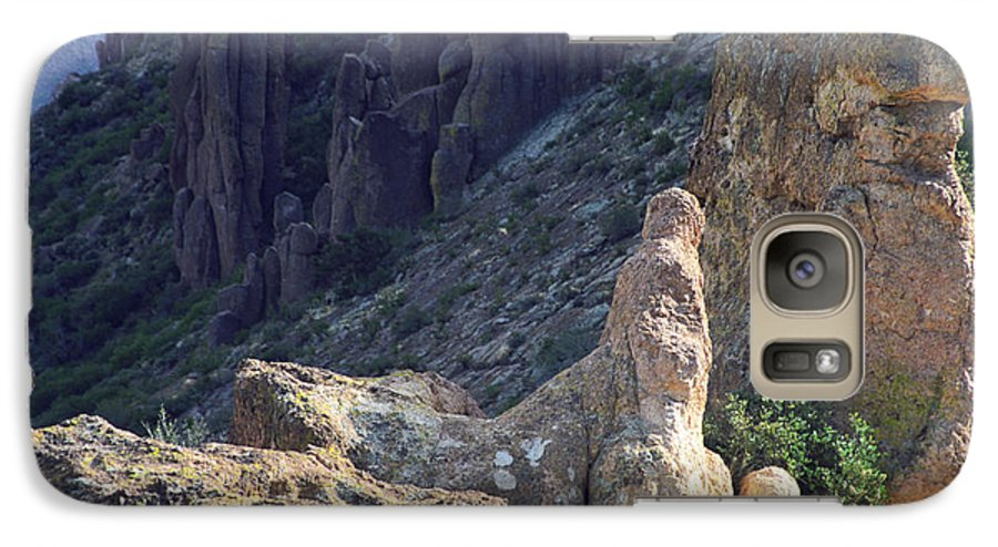Rock Formations Galaxy S7 Case featuring the photograph A Hard Ride by Kathy McClure