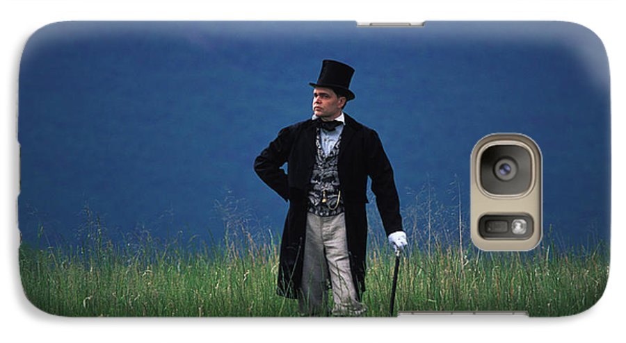 History Galaxy S7 Case featuring the photograph A Man Outstanding In His Field by Carl Purcell