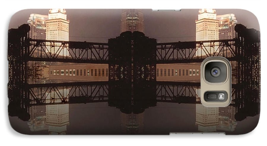 Cleveland Galaxy S7 Case featuring the photograph A Mirror Image Reflection by Kenneth Krolikowski