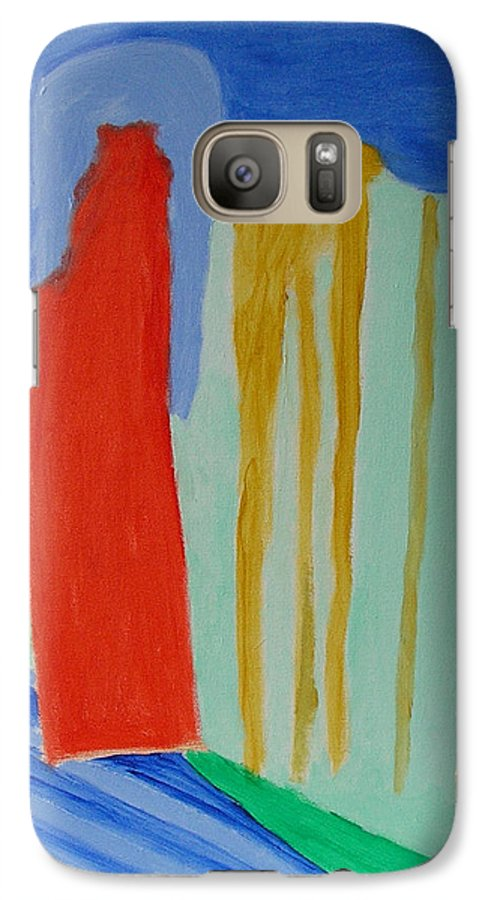 Spiritual Galaxy S7 Case featuring the painting A New Beginning by Harris Gulko