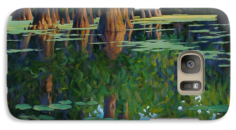 Swamp Galaxy S7 Case featuring the painting A Patch Of Blue by Kevin Lawrence Leveque
