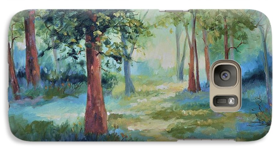 Trees Galaxy S7 Case featuring the painting A Path Not Taken by Ginger Concepcion