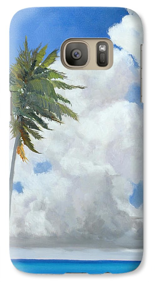 Landscape Galaxy S7 Case featuring the painting A Perfect Day by Glenn Secrest