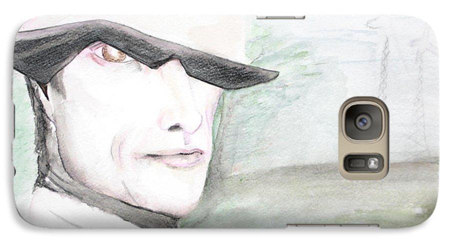 Perry Farrell Jane's Addiction Darkestartist Darkest Artist Galaxy S7 Case featuring the painting A Perry Farrell Plan by Darkest Artist