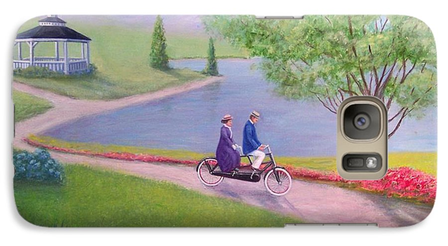 Landscape Galaxy S7 Case featuring the painting A Ride In The Park by William H RaVell III