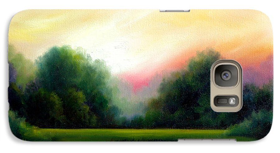 Clouds Galaxy S7 Case featuring the painting A Spring Evening by James Christopher Hill