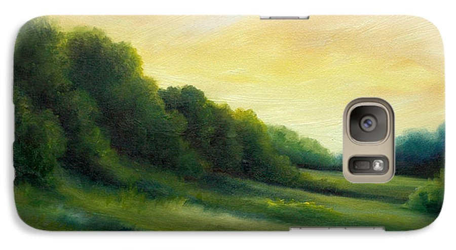 Clouds Galaxy S7 Case featuring the painting A Spring Evening Part Two by James Christopher Hill