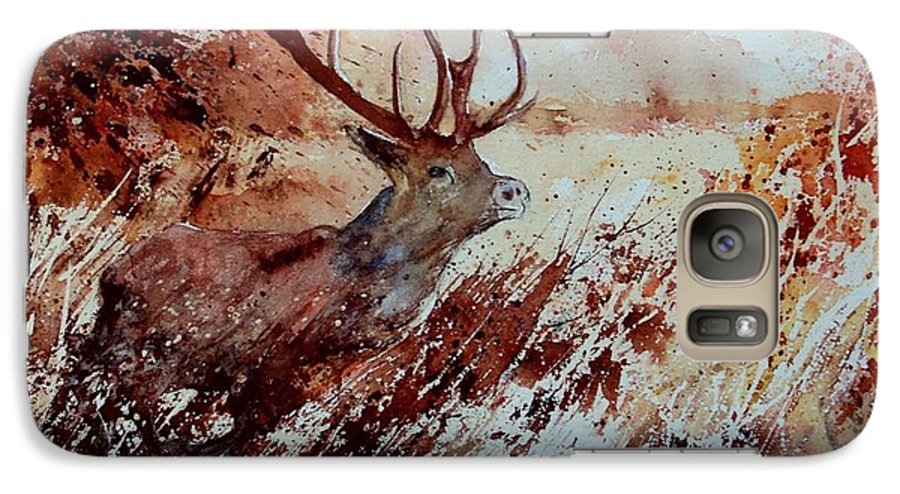 Animal Galaxy S7 Case featuring the painting A Stag by Pol Ledent