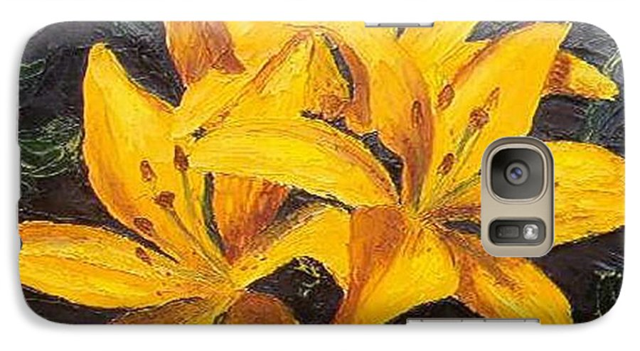 Galaxy S7 Case featuring the painting A Touch Of Gold by Tami Booher