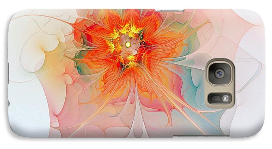 Digital Art Galaxy S7 Case featuring the digital art A Touch Of Spring by Amanda Moore