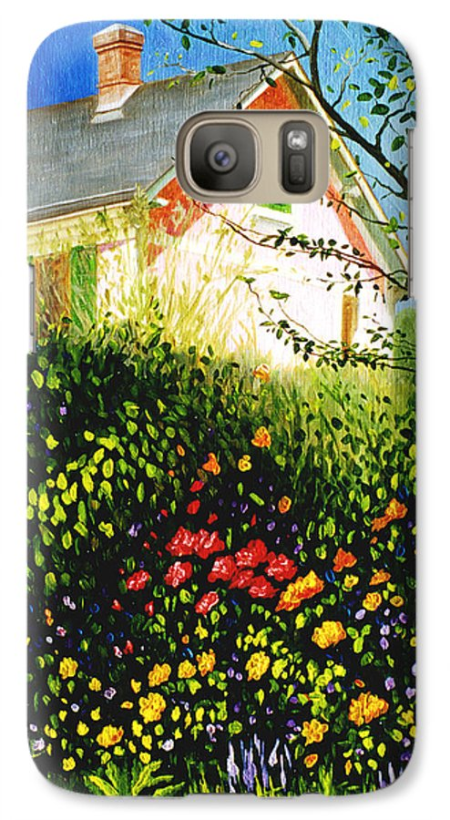 Monets House Galaxy S7 Case featuring the painting A View Of Monets House In Giverny France by Gary Hernandez