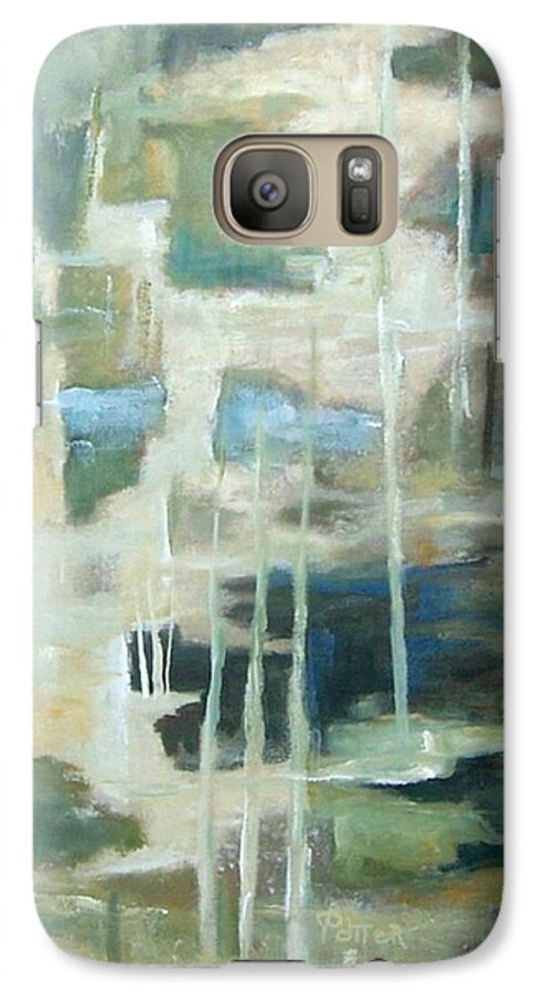 Abstract Galaxy S7 Case featuring the painting A Walk In The Woods by Virginia Potter
