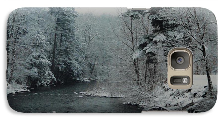 B&w Galaxy S7 Case featuring the photograph A Winter Waterland by Rob Hans