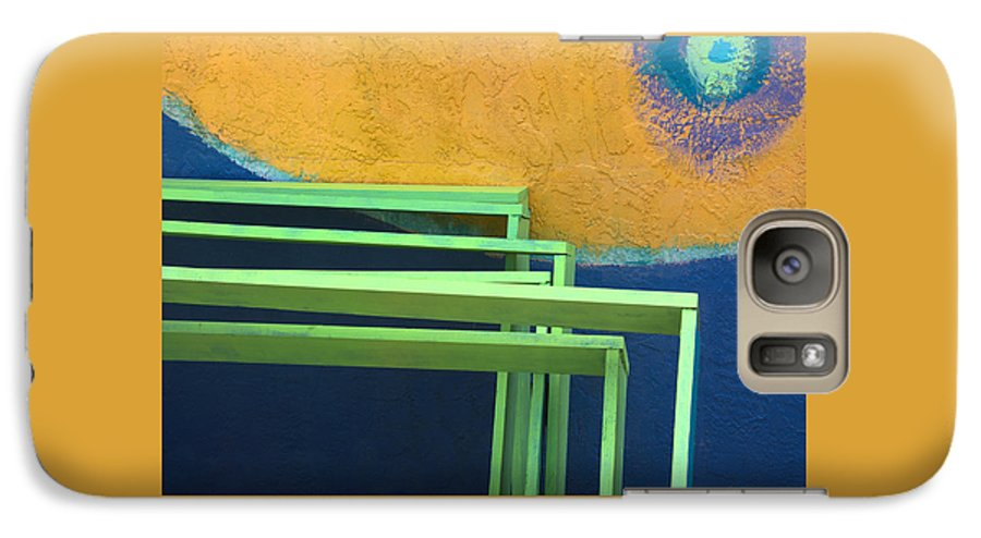 Color Galaxy S7 Case featuring the photograph A Working Wall In Tropical Colors by Mitch Spence