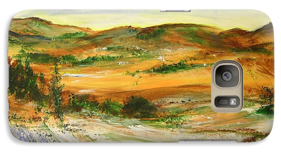 Landscape Galaxy S7 Case featuring the painting Aberdeen Winter Landscape by Lizzy Forrester