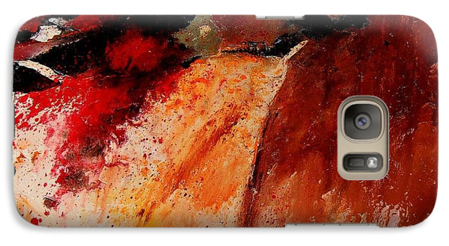 Abstract Galaxy S7 Case featuring the painting Abstract 010607 by Pol Ledent