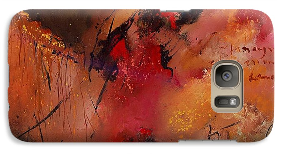 Abstract Galaxy S7 Case featuring the painting Abstract 0408 by Pol Ledent